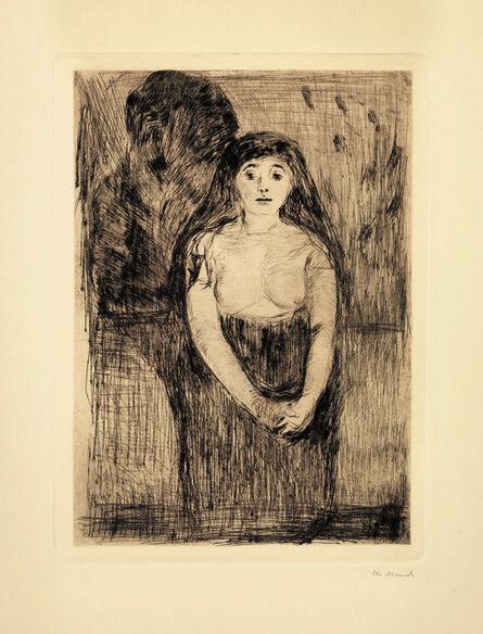 Edvard Munch, 'Modellstudie (Study of a Model)', 1894