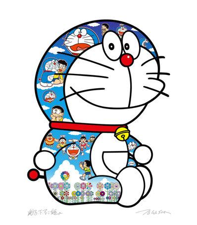 Takashi Murakami, 'Sitting Doraemon crying and laughing', 2020
