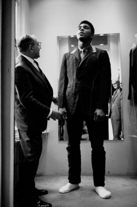Thomas Hoepker, 'Muhammad Ali is fitted for a new suit', 1966