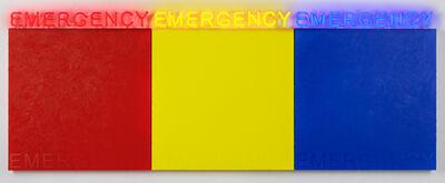 Deborah Kass, 'EMERGENCY (RED, YELLOW, BLUE) ', 2019