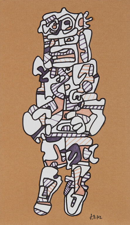 Jean Dubuffet, 'Personnage (P374)', 1972