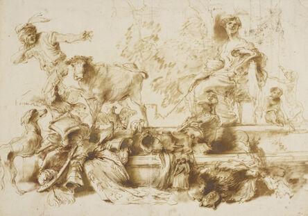Giovanni Benedetto Castiglione, 'Circe', ca. 1650-55