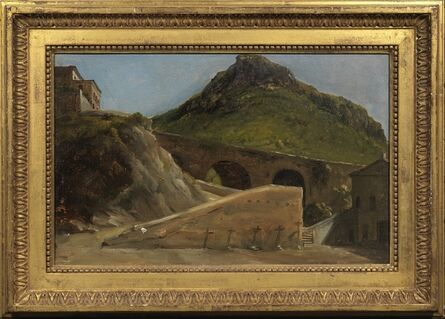 Auguste Jean-Baptiste Vinchon, 'A Bridge Leading to a Villa', Early 19th Century
