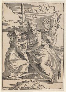 Antonio da Trento after Parmigianino, 'The Holy Family with Two Saints'