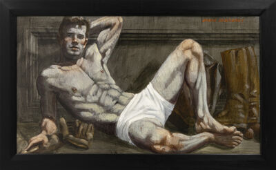 Mark Beard, '[Bruce Sargeant (1898-1938)] Reclining Male in White Shorts', n.d.