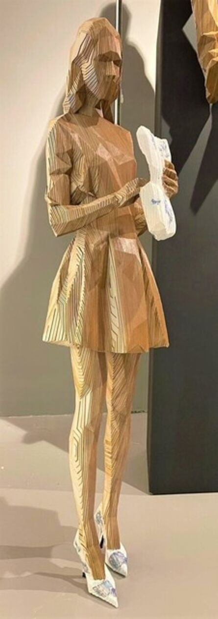 Christian Albarracín, ' Mujer estática (tacones de color )', 2021