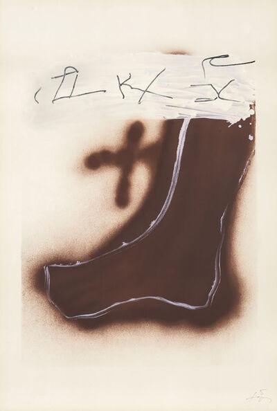 Antoni Tàpies, 'Pied Marron', 1984