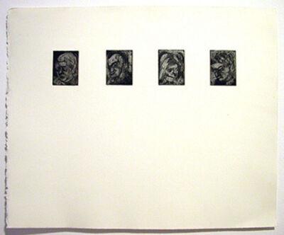 Leon Kossoff, 'Four Heads', 1984