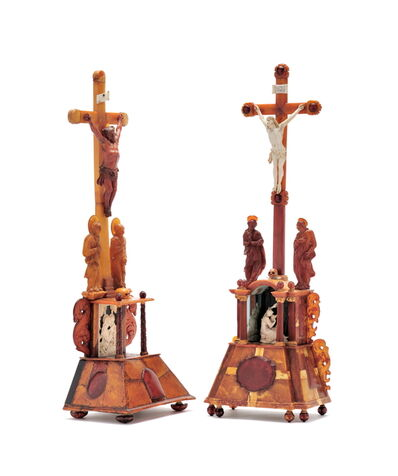 Unknown, 'Two amber altars ', North East German, probably Danzig, ca 1680
