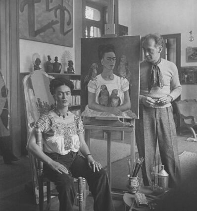 """Nickolas Muray, 'Frida Painting """"Me and My Parrots""""', 1941"""