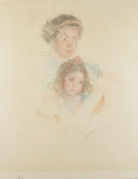 Mary Cassatt, 'Heads of Reine and Margot', ca. 1900