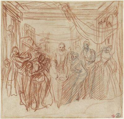 Jean-Antoine Watteau, 'Italian Comedians Taking Their Bows', ca. 1718