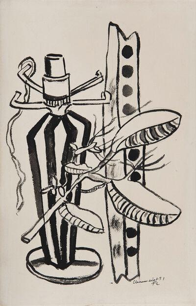 Fernand Léger, 'Nature morte au pied de lampe et branche', 1951