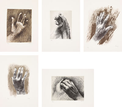 Henry Moore, 'The Artist's Hand', 1980