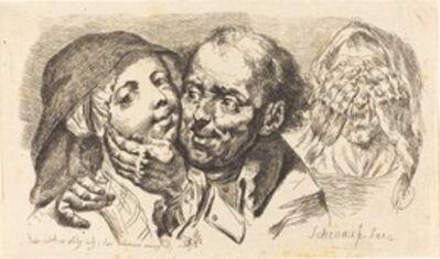 Johann Eleazar Schenau, 'Young Woman Embraced by an Older Man', 1765