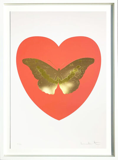 Damien Hirst, 'I Love You - coral, cool gold, oriental gold 9/14', 2015