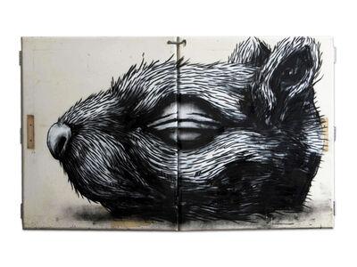 ROA, 'Squirrel Head', 2010