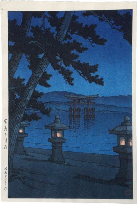Kawase Hasui, 'Moonlit night, Miyajima', 1947