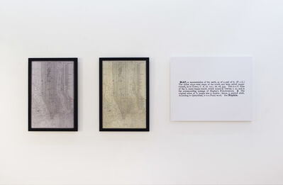 Joseph Kosuth, ''Map-One and Three' [Ety.-Eng.]', 1965