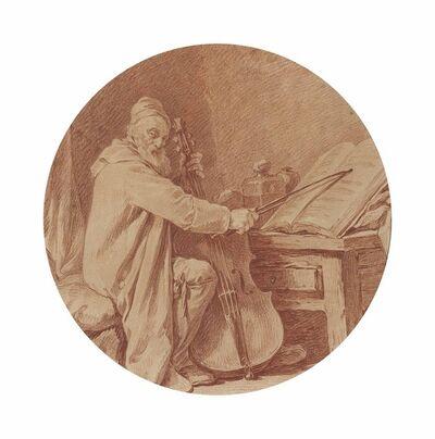 Nicolas Bernard Lépicié, 'Portrait of the cellist Martin Bertaud'