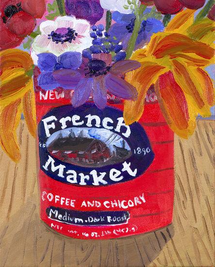 Anna Valdez, 'Garden Flowers in French Market Can', 2017