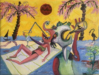 Federico Luger, 'Drunks on the beach', 2020