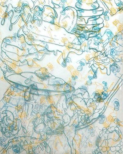 Barbara Strasen, 'Drippy Masks Ostriches', 2011