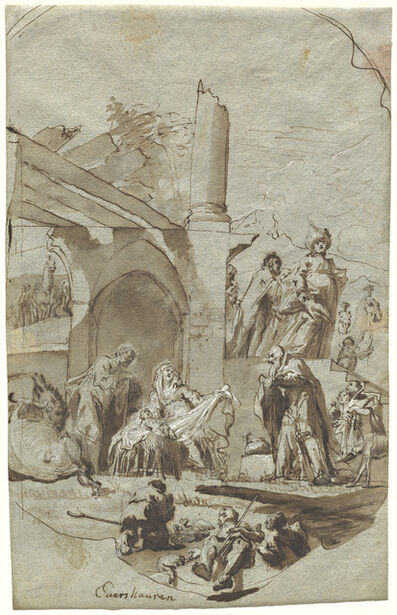 Georg Anton Urlaub, 'The Adoration of the Magi', 1752/1753