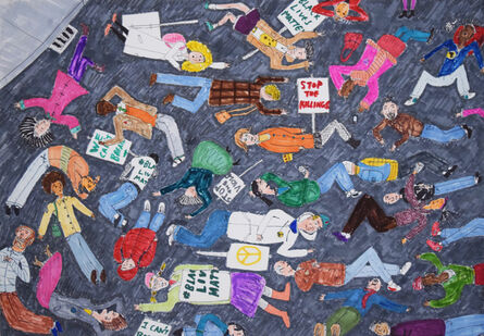Raymond Lopez, 'Die-In Demonstration', 2015