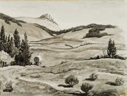 Thomas Hart Benton, 'Camp Wagon High Country', 1965
