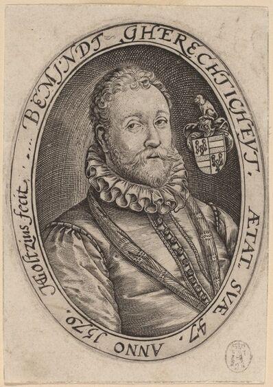 Hendrik Goltzius, 'Bust of a Man Facing Right', 1579