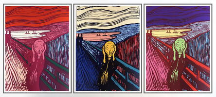 Sunday B. Morning, 'After Andy Warhol, The Scream (full portfolio of 3)', 2019