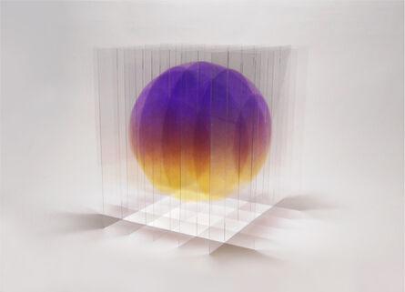 Go Segawa, 'Balle_flottante_VI_violet_jaune', 2020