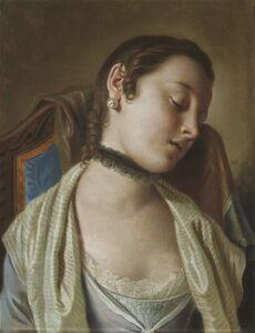 Pietro Rotari, 'La Dormeuse, Pendant to: La Liseuse', 1752-1756