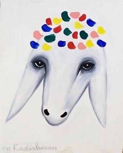 Menashe Kadishman, 'Crowned Goat', Late 20th century