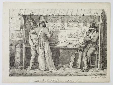 Nicolas-Toussaint Charlet, 'Le Marchand de dessins lithographiques', 1818-1819