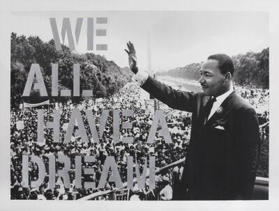 Mr. Brainwash, 'We All Have a Dream', 2017