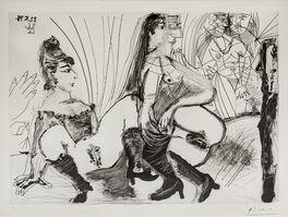 Pablo Picasso, 'Degas paie et s'en va. Les filles ne sont pas tendres, from 156 Series', 1971
