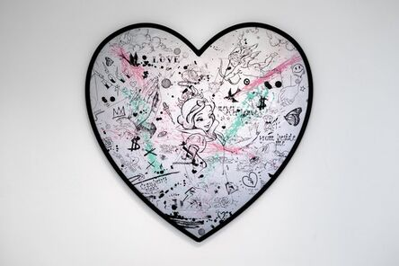 Joseph Klibansky, 'My Heart Is Yours Silver/Black, Pink and Turquoise Splash', 2020