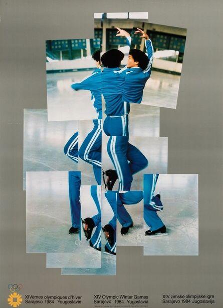 David Hockney, 'Skater (XIV Olympic Winter Games, Sarajevo) (Baggott 135)', 1982