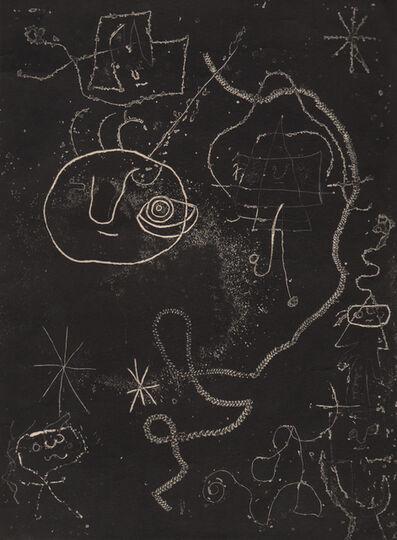 Joan Miró, 'Petite fille sautant a la  Corde, femmes, Oiseaux (Little Girl Jumping at the Rope, Women, Birds) ', 1947