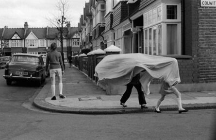 Homer Sykes, 'Children playing in a suburban street, Wandsworth, London', ca. 1970