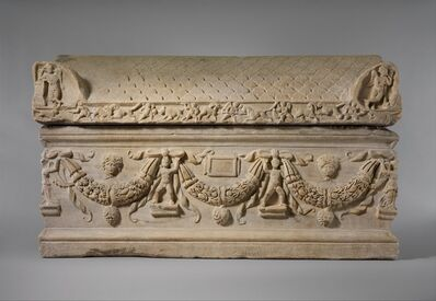 Unknown Roman, 'Marble sarcophagus with garlands', ca. A.D. 200–225