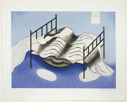 Louise Bourgeois, 'Le Lit, Gros Édredon, Bleu', 1998