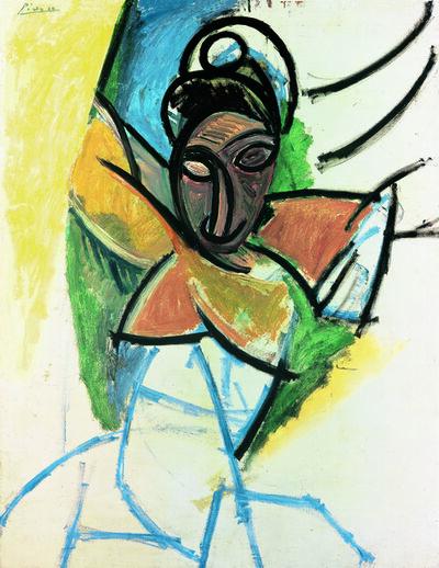 """Pablo Picasso, 'Femme (Epoque des """"Demoiselles d'Avignon"""") (Woman, """"Demoiselles d'Avignon"""" period)', 1907"""