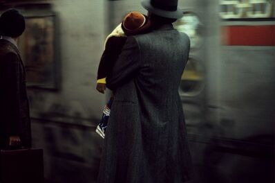 Frank Horvat, 'Father and child in subway, New York', 1984