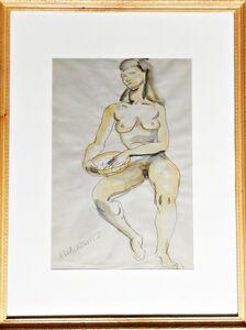 Abraham Walkowitz, 'Nude Figure', ca. 1915