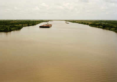 Victoria Sambunaris, 'Untitled (Intracoastal Waterway with Red Barge), Bolivar Peninsula, Texas', 2015