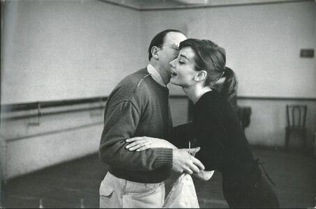 David Seymour, 'Audrey Hepburn training for funny face', 1956