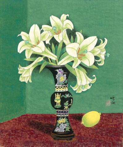 Kuo Hsueh-Hu 郭雪湖, 'Lilies', 1997